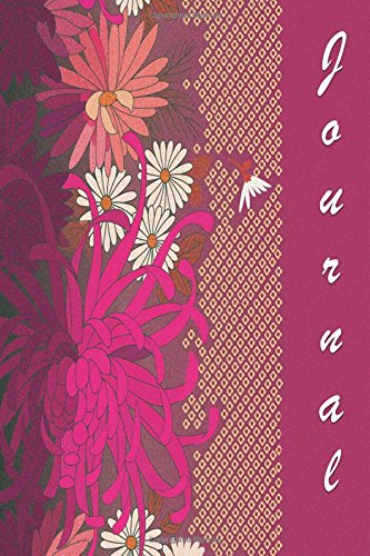 Journal: Magenta and Flowers 6x9 - DOT JOURNAL - Journal with dotted pages (Flowers Dot Journal Series)