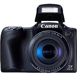 Canon PowerShot SX410 IS Fotocamera Compatta Digitale, 20.0 Megapixel, Nero