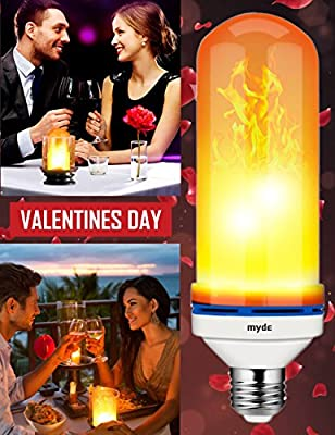 LED Flame Effect Light Bulb, 7 Inch E26 Flame LED Bulb, 1300K True Fire Color Simulated Decorative Light Atmosphere Lighting Vintage Flaming LED Light Bulb for Christmas Decoration
