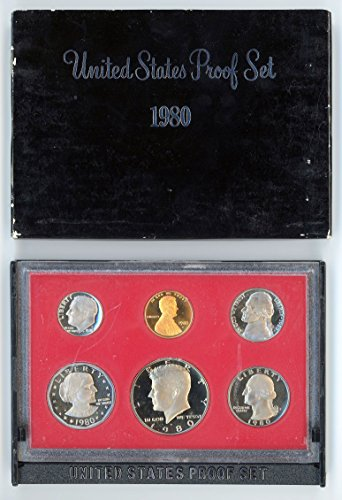 1980 S US Proof Set Original Government Packaging (1980 Coin)