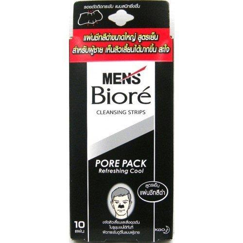 Mens Biore Black Cleansing Strips