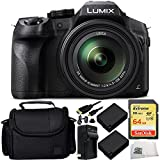 Panasonic Lumix DMC-FZ300 Digital Camera 9PC Accessory Kit. Includes SanDisk 64GB Extreme SDXC Memory Card (SDSDXN-064G-G46) + 2 Replacement BLC-12 Batteries + AC/DC Rapid Home & Travel Charger + MORE