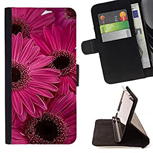 Jordan Colourful Shop - daisy flower pink purple flowers For HTC One M8 - Leather Case Absorci???¡¯???€????€?????????&Atil