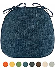 Dining Room Chair Cushions with Ties, Kitchen Chair Cushions 16x16, Chair Pads for Dining Chairs Non Slip, Thick Comfortable Anti-Deformation Chair Cushions Outdoor Indoor