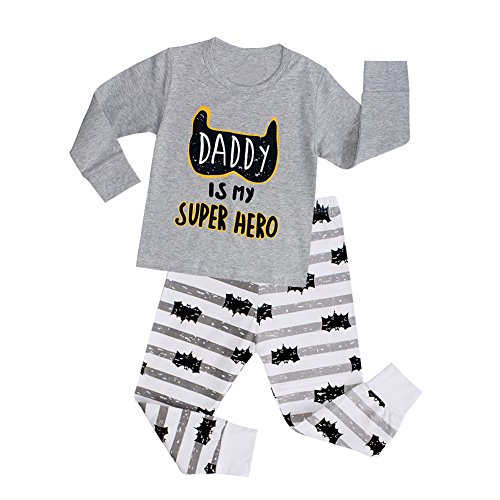 VICVIK Baby and Little Boys'Bat Pajama Sets 100% Cotton Size 5T (Website Ideas For Kids)