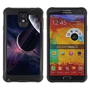 LASTONE PHONE CASE / Suave Silicona Caso Carcasa de Caucho Funda para Samsung Note 3 / Planets Universe Sky Purple Stars Cosmos