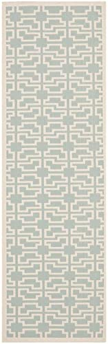 Safavieh Courtyard Collection CY6015-223 Indoor Outdoor Area Rug, 8 x 11 , Aqua Beige