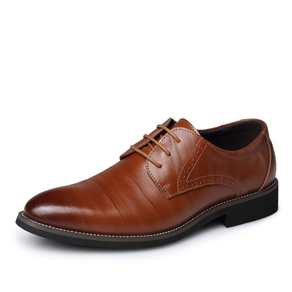 coollight New Spring and Autumn Men Leather Dress Business Shoes D(M) Casual Shoes 40/6.5 D(M) Shoes US Men|Light Brown B07H82SNTS 76ad07