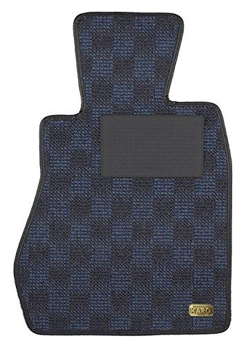 KARO(カロ) フロアマット WOOLY ブルー VOLVO(ボルボ) S60 2960(一台分) B00NT0JW6Q WOOLY×ブルー WOOLY×ブルー