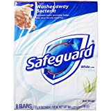 Safeguard Antibacterial Soap, White with Aloe, 4 oz bars, 8 ea (Pack of 12)
