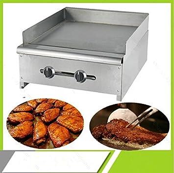 Encimera inoxidable comercial a gas para platos calientes ...