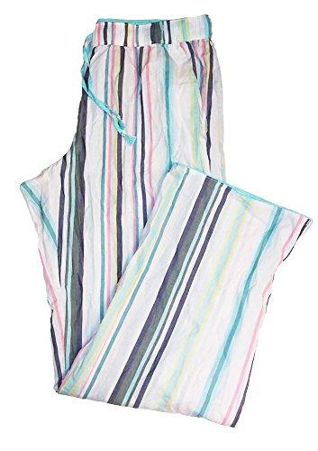 Victoria's Secret 1PC Pajama Sleep Pants Mayfair Striped Aqua/Multi L