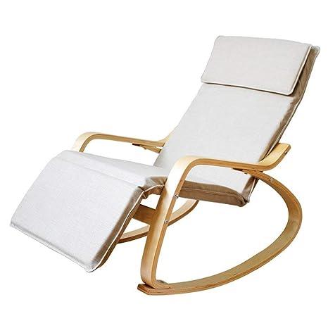 KPLMⓇ Cómoda Mecedora de Madera Sillón reclinable Relajante ...