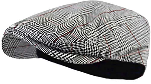 - Wonderful Fashion Men's Classic Herringbone Tweed Wool Blend Newsboy Ivy Hat (Large/X-Large, Paisley Gray)