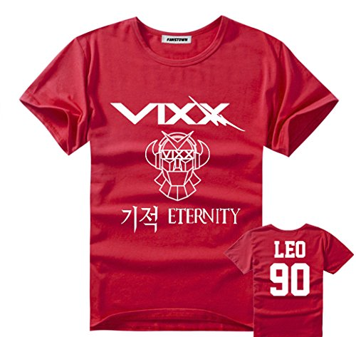 Fanstown VIXX shirt signature red + 2 pieces of lomo cards