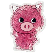 TheraPearl Children's Pals, Pearl the Pig, Non Toxic Reusable Animal Shaped Hot Cold Therapy Pack, Flexible Compress for Injuries, Swelling, Pain Relief, Bee Stings