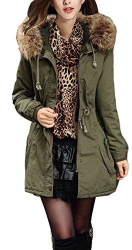 youtobin-womens-slim-faux-fur-hooded-coat-thick-cotton-padded-clothes-l-green