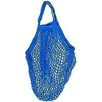 NaiCasy Sac Cabas Shopping en Maille Filet Net Sac de Shopping Sac de Shopping Sac de Shopping en Coton Réutilisable Fruits Bleu