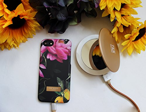 Ted Baker AW16 weicher Shell Fall zurück für Apple Iphone 7 Plus – Citrus Bloom Schwarz