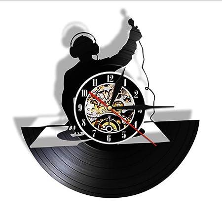 FQCJD Reloj de Pared de Disco de Vinilo Tocadiscos DJ Mute Cool ...