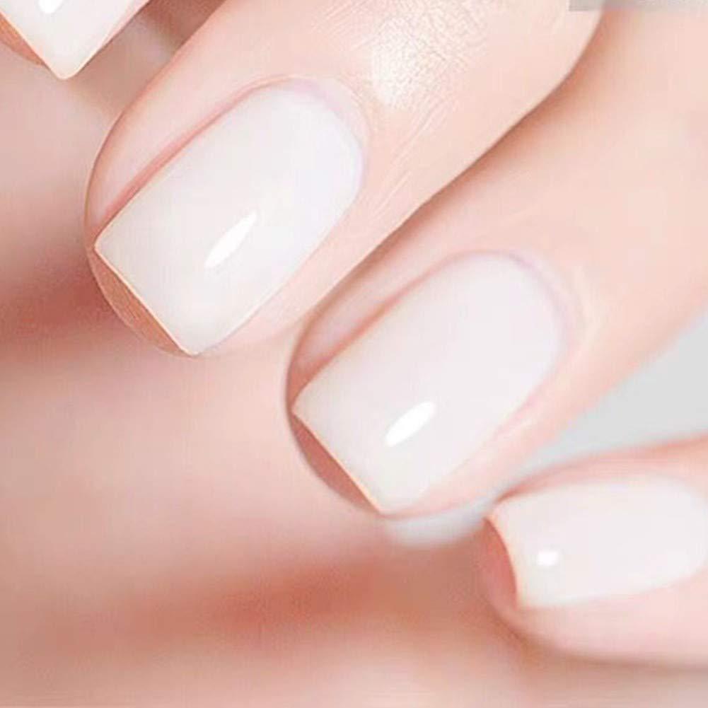 Amazon Com Memeda Nail Gel Polish Spring Summer Nail Art Colors Nude Milky Uv Led Soak Off Clear Nail Gel Kit Beauty