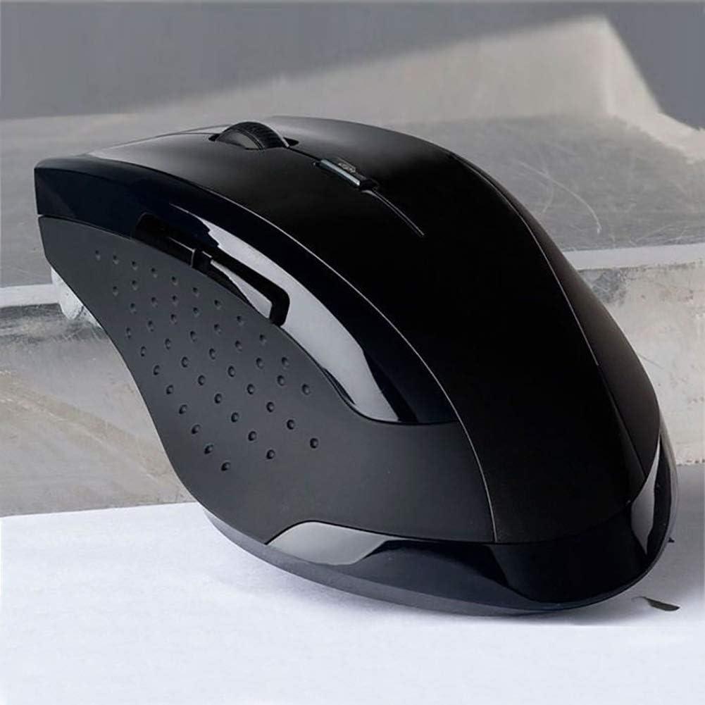 haixclvyE PC Computer Laptop Mouse Ergonomic 6 Keys 3200DPI Optical 2.4GHz Wireless Gaming Mouse Blue
