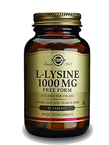 Solgar L Lysine Tablets, 1000 mg – Supports Healthy Skin and Lips