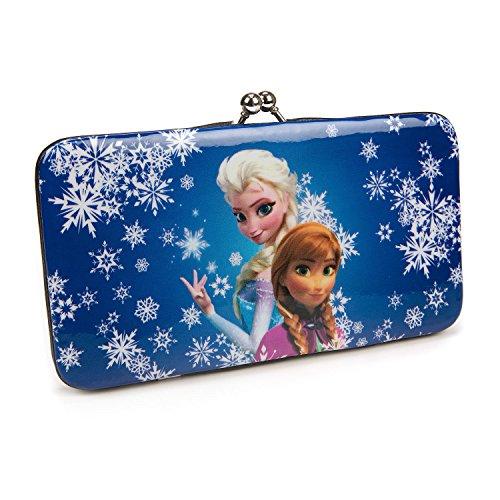 Kiss Lock Wallet (Concept One Handbags Frozen Sublimation Print Snowflake Kiss Lock Wallet, White, One Size)
