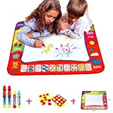 """Aqua Doodle Mat,HTOYES 4 Color Children Water Drawing Painting Mat Board (31.5"""" x 23.62"""")with 4 Magic Pen Doodle Kids Educational Toy Gift"""