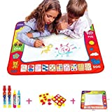 """Aqua Doodle Mat,HTOYES 4 Color Children Water Drawing Painting Mat Board with 4 Magic Pen Doodle Kids Educational Toy Gift (31.5"""" x 23.62"""")"""