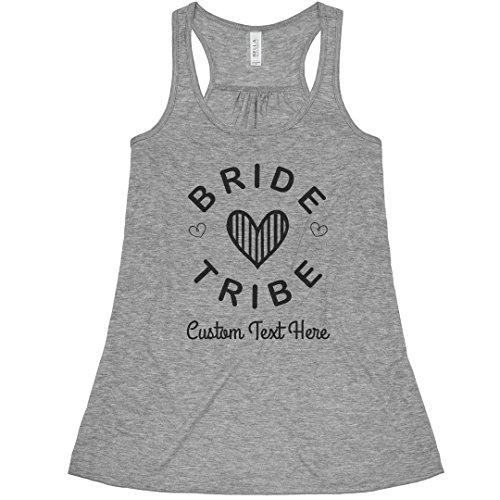 Vegas Must Die - Custom Bride Tribe Hearts: Bella Ladies Flowy Racerback Tank