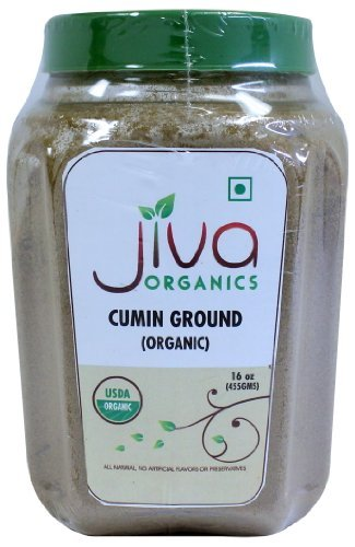 Jiva USDA Organic Cumin Powder 1LB (16oz) - Packaged in Resealable Jar by Jiva Organics