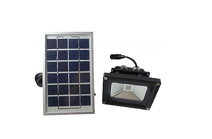 Cursonline faro led con pannello solare e batteria ricaricabile