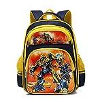 Backpack Robot Transformers Picture Waterproof School Book Bag Unisex Satchel Rucksack 6-10 Year Old