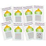 "Baby Shower Scratch Tickets. Baby Shower Scratch-n-win Tickets. Great Game! (24 Pack) 4 1/4"" X 2"". Cardboard."