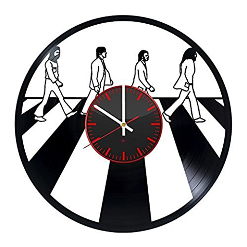 Modern Cool Vinyl Record Wall Clock - Get unique garage room decor - Gift ideas for friends, boys – Rock Music Band Unique Wall Art