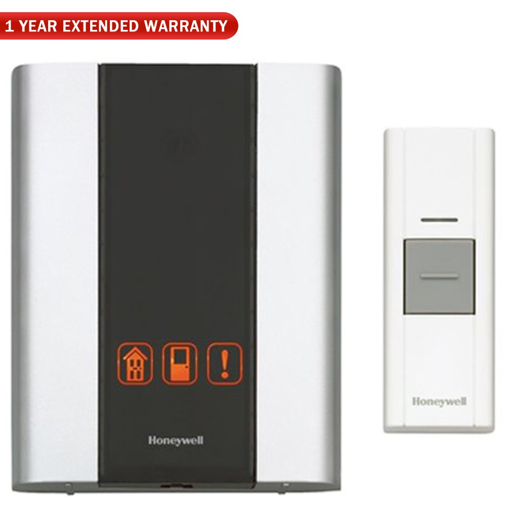 Honeywell (RCWL300A1006/N) Premium Portable Wireless Door Chime & Push Button + 1 Year Extended Warranty