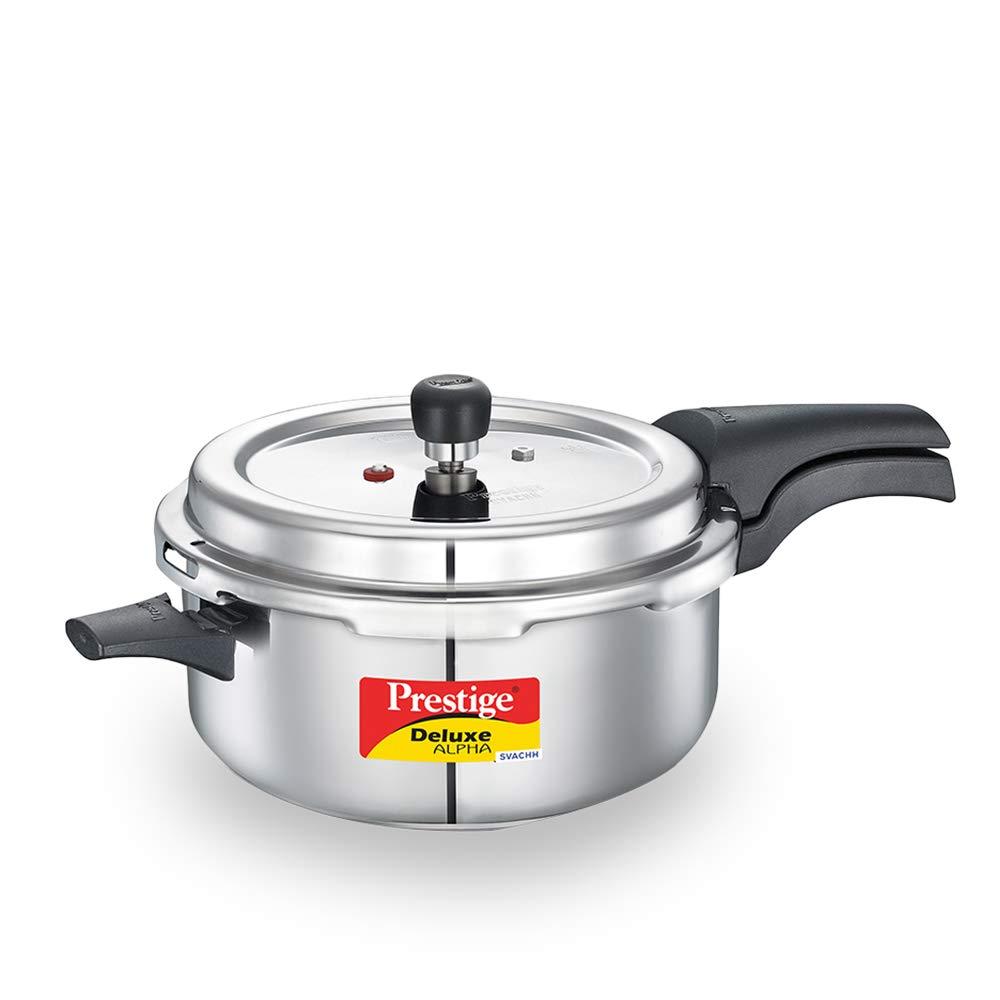 Prestige Svachh, 20255, 5 L, Deep Pressure Pan, with deep lid for Spillage Control