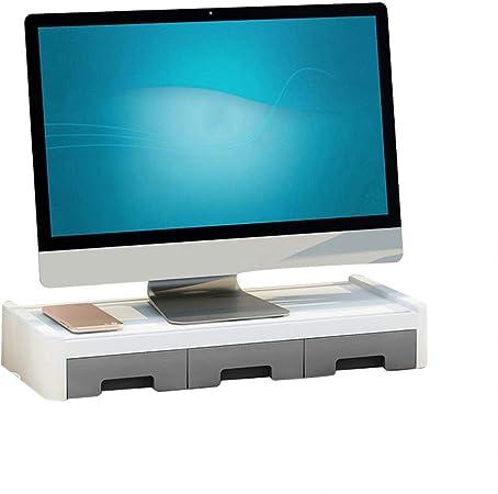 Soporte De Monitor Apilable|Monitor Riser con Soporte Para Teléfono|TV PC Ordenador Soporte|Organizador De Almacenamiento De Escritorio|Almacenamiento De Teclado|Esquina Redondeada|Máx. 44 Lb / 20 Kg: Amazon.es: Hogar