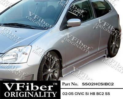 2002-2005 Honda Civic Si HB (EP3) HB Body Kit BC2 Side (Vfiber Side Skirts)