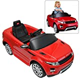 range rover electric car - Rastar Range Rover Ride On Car With Remote Control For Kids | 12V Power Battery Evoque Kid Car To Drive With 2.4G Radio Parental Control Red