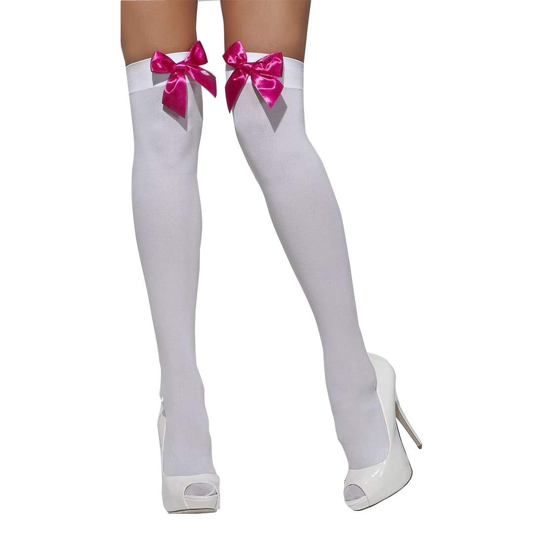 Samgu Donna Opaco Coscia-Alta Calze Autoreggenti con Bowknot Stockings