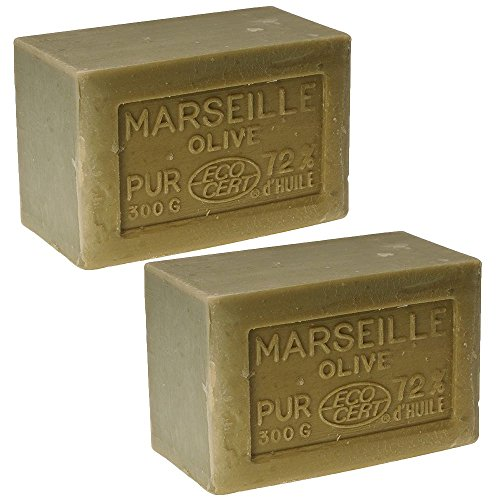 (Traditional Olive Oil Marseille Soap Green 2 x 300g 10.5oz Rampal Latour since 1828)