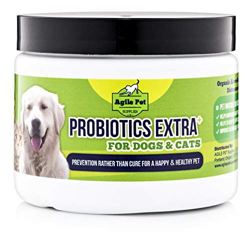 Premium Probiotic Powder For Dogs & Cats 20 Billion CFUs Great Value 160 Days Supply with added Vitamins and Icelandic Kelp - Gives Relief for Diarrhea Hot Spot Vomitting Skin allergies Made in USA - 160 Day Supply