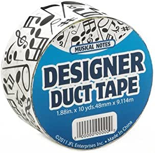 Just For Laughs JFL2516 Music Notes/Symbols Duct Tape 1.88 in X 10 yds (48 mm x 9.114 m)