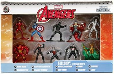 Marvel Avengers Jada Nano Metalfigs 10 Pack Collectors Set 6 Exclusive Figs New