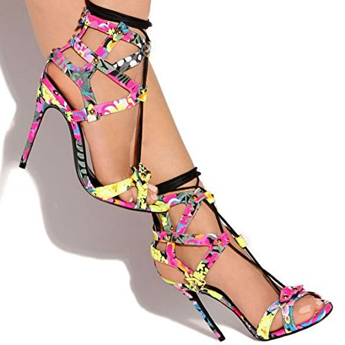 Zapatos de tacón alto sandalias Cruz Trajes sandalias simples sandalias de tacón alto Color