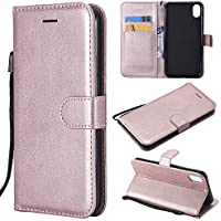 iPhone Xs Max Case,iPhone Xs Max Wallet Case,Luxury Premium Ultra Slim PU Leather Folio Flip Magnetic Phone Protective Case Cover with Credit Card Slots Holder & Kickstand for iPhone Xs Max,Rose Gold