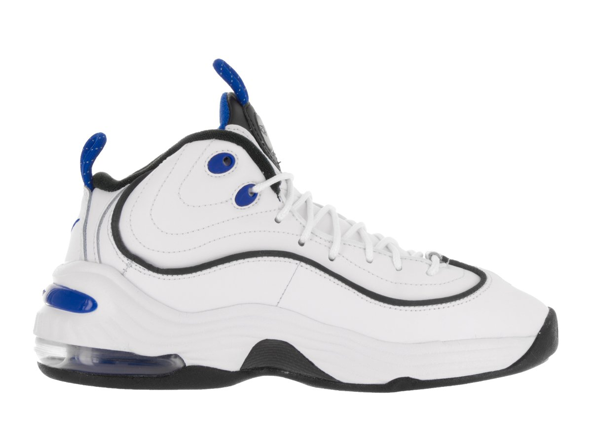 Nike Kids Air Penny II (GS) White/Black Varsity Royal Blck Basketball Shoe 6 Kids US