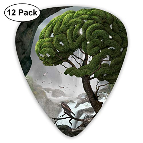 351 Shape Classic Guitar Picks Human Head Art Plectrums Instrument Standard Bass 12 Pack ()